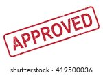 stamp approved  | Shutterstock . vector #419500036