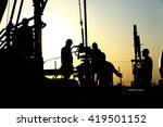 oil drilling exploration  the... | Shutterstock . vector #419501152