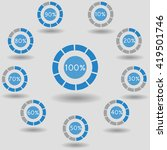 icons pie graph circle... | Shutterstock .eps vector #419501746