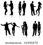 young party and clamor couples... | Shutterstock .eps vector #41950375