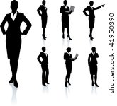 young business woman silhouettes | Shutterstock .eps vector #41950390