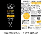 menu placemat food restaurant... | Shutterstock .eps vector #419510662
