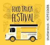 food truck festival menu food... | Shutterstock .eps vector #419510686