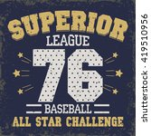 baseball t shirt graphic design.... | Shutterstock .eps vector #419510956