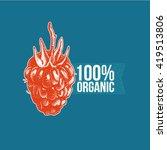 vector logo of berry.   | Shutterstock .eps vector #419513806