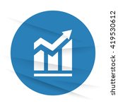 white trend icon label on... | Shutterstock .eps vector #419530612