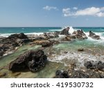 Rocky Ocean Coast With Waves I...