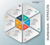 vector abstract 3d paper... | Shutterstock .eps vector #419542156