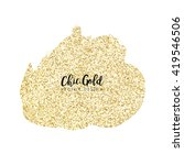 modern chic gold background... | Shutterstock .eps vector #419546506