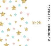 modern chic gold star shape...   Shutterstock .eps vector #419546572