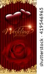 wedding red rose on a red... | Shutterstock .eps vector #419546965