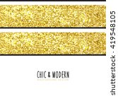 modern chic gold background... | Shutterstock .eps vector #419548105