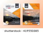 vector brochure flyer design... | Shutterstock .eps vector #419550385