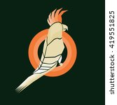 cockatoo orange isolated on... | Shutterstock .eps vector #419551825