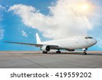 commercial airplane | Shutterstock . vector #419559202