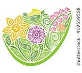 floral nature pattern design... | Shutterstock .eps vector #419559538