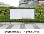large blank billboard on a... | Shutterstock . vector #419562946