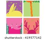 cute animal print | Shutterstock .eps vector #419577142