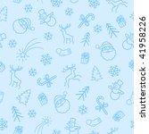 seamless christmas 2 color ... | Shutterstock .eps vector #41958226