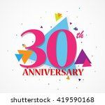 happy anniversary celebration... | Shutterstock . vector #419590168