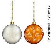 vector christmas balls | Shutterstock .eps vector #41959468