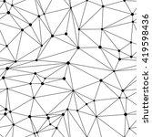 low polygon geometry background.... | Shutterstock .eps vector #419598436