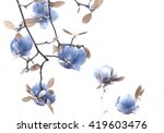lovely blue colored flowering... | Shutterstock . vector #419603476