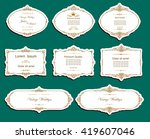 set of vector labels  cutout... | Shutterstock .eps vector #419607046