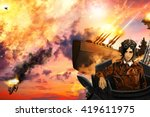 The Airships Battle  In The...