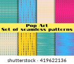 seamless pattern in the style... | Shutterstock .eps vector #419622136