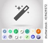 sparkling magic wand instrument ... | Shutterstock .eps vector #419629372