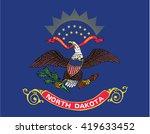 north dakota state national flag | Shutterstock .eps vector #419633452