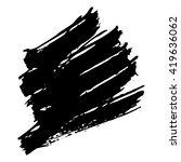 vector set of grunge brush... | Shutterstock .eps vector #419636062
