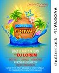 illustration of Summer Festival poster design | Shutterstock vector #419638396