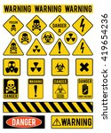 set of warning signs about the... | Shutterstock .eps vector #419654236