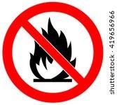 no fire sign | Shutterstock .eps vector #419656966