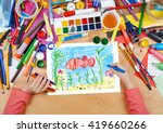 red fish underwater  crab on... | Shutterstock . vector #419660266