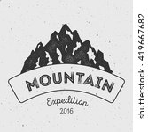 mountain adventure and... | Shutterstock .eps vector #419667682