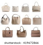 Group Of Women Leather Beige...