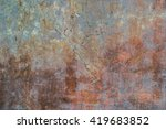 pastel colored peeled concrete... | Shutterstock . vector #419683852