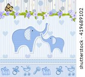 baby shower invitation with... | Shutterstock .eps vector #419689102