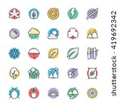 nature cool vector icons 2 | Shutterstock .eps vector #419692342