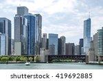 chicago skyscraper  illinois ... | Shutterstock . vector #419692885