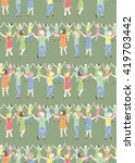 seamless pattern of the people... | Shutterstock .eps vector #419703442