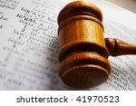 Closeup Of A Gavel And...