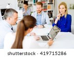 business people meeting and a... | Shutterstock . vector #419715286