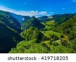 mountain scenery surrounding... | Shutterstock . vector #419718205