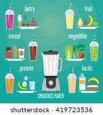 modern blender with a smoothie... | Shutterstock . vector #419723536