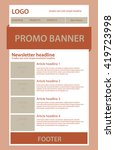 newsletter template for... | Shutterstock .eps vector #419723998