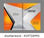 vector empty bi fold brochure... | Shutterstock .eps vector #419726992